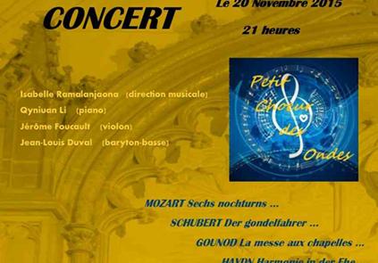 Concert le 20 novembre 2015 en l'église Notre-Dame de la Dalbade à Toulouse